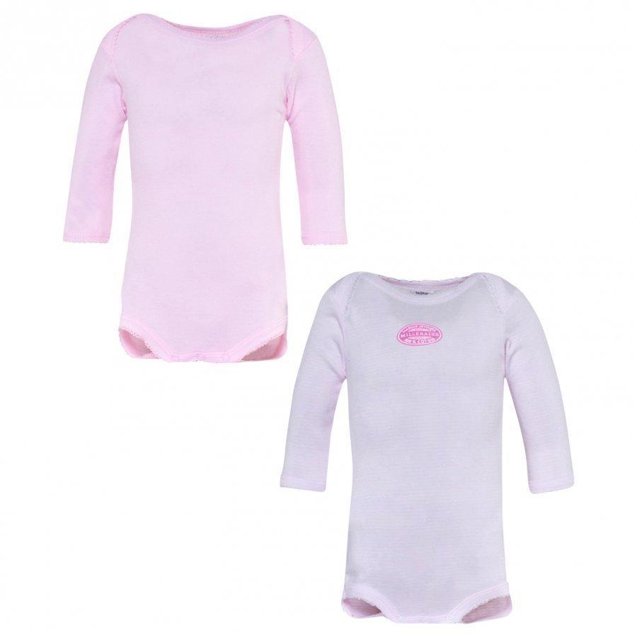 Petit Bateau 2-Pack Pink/White Body