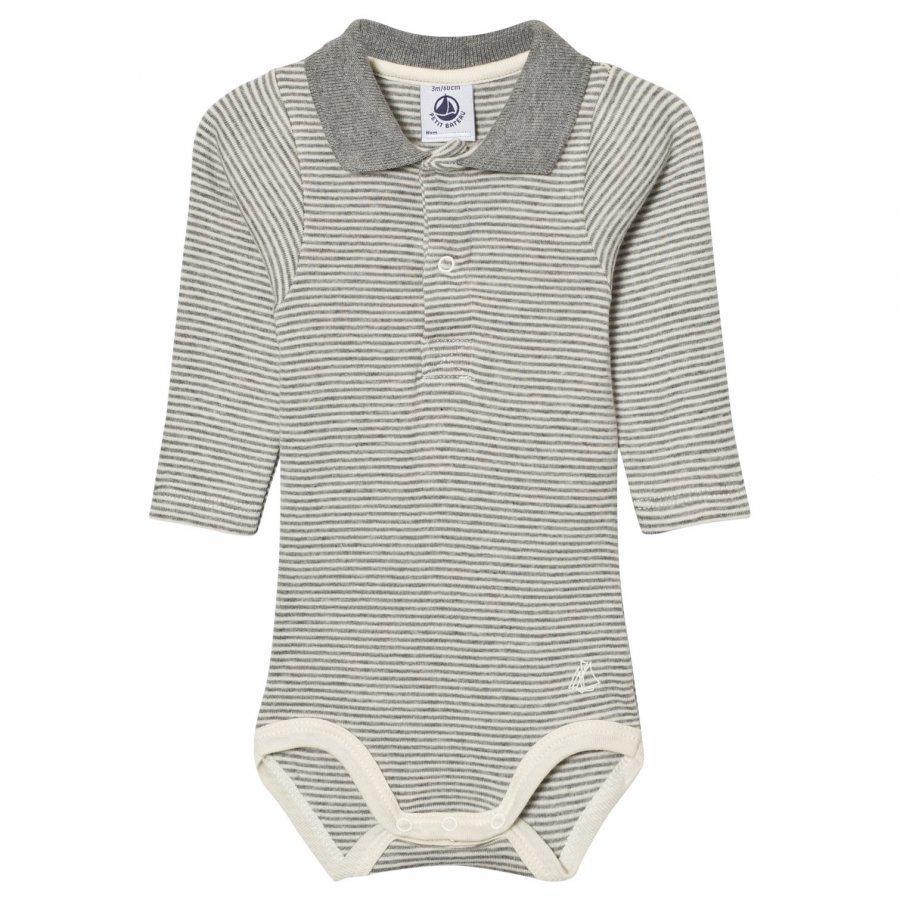 Petit Bateau Baby Body Miller Grey Creme Body