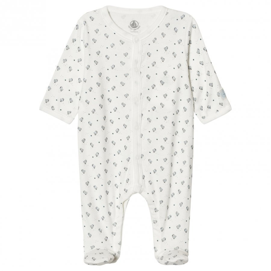 Petit Bateau Bird Print Footed Baby Body