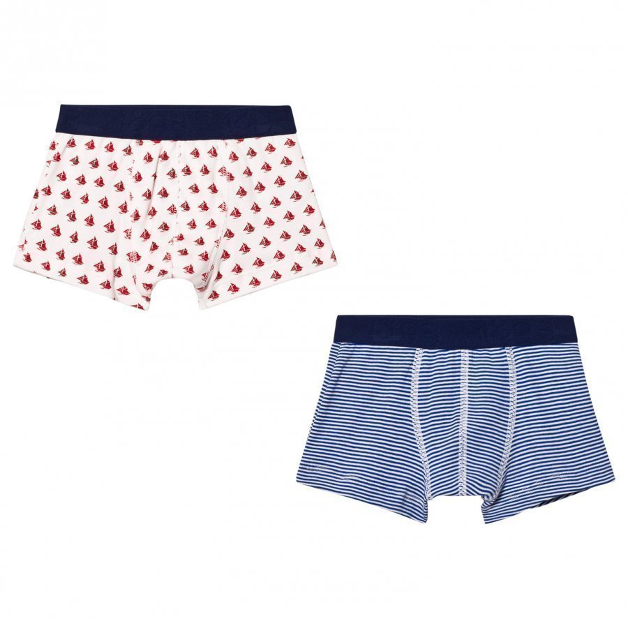 Petit Bateau Blue And Red Boxers 2 Pack Bokserit