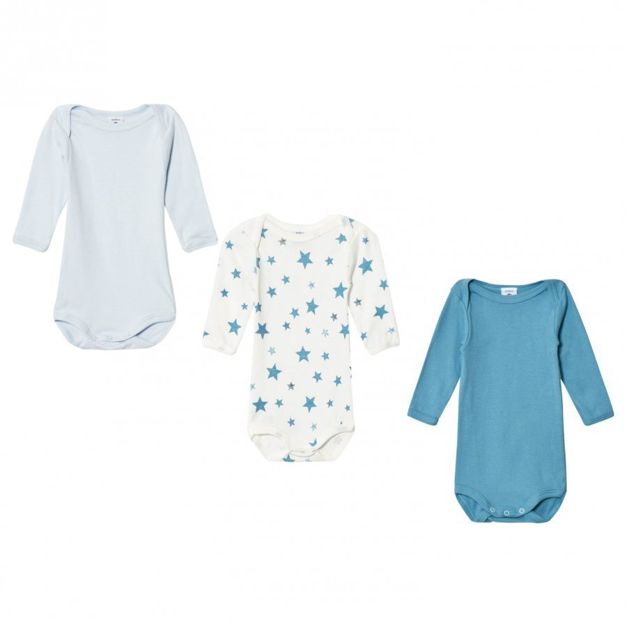 Petit Bateau Blue Star Baby Bodies 3 Pack Body