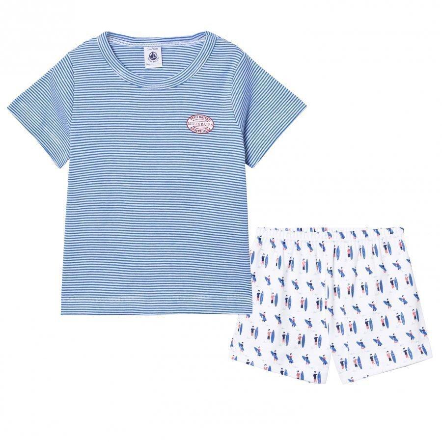 Petit Bateau Blue Stripe Board Pyjamas Yöpuku