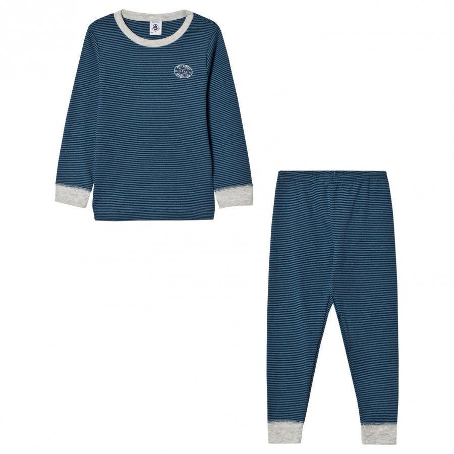 Petit Bateau Blue Stripe Pyjamas Yöpuku