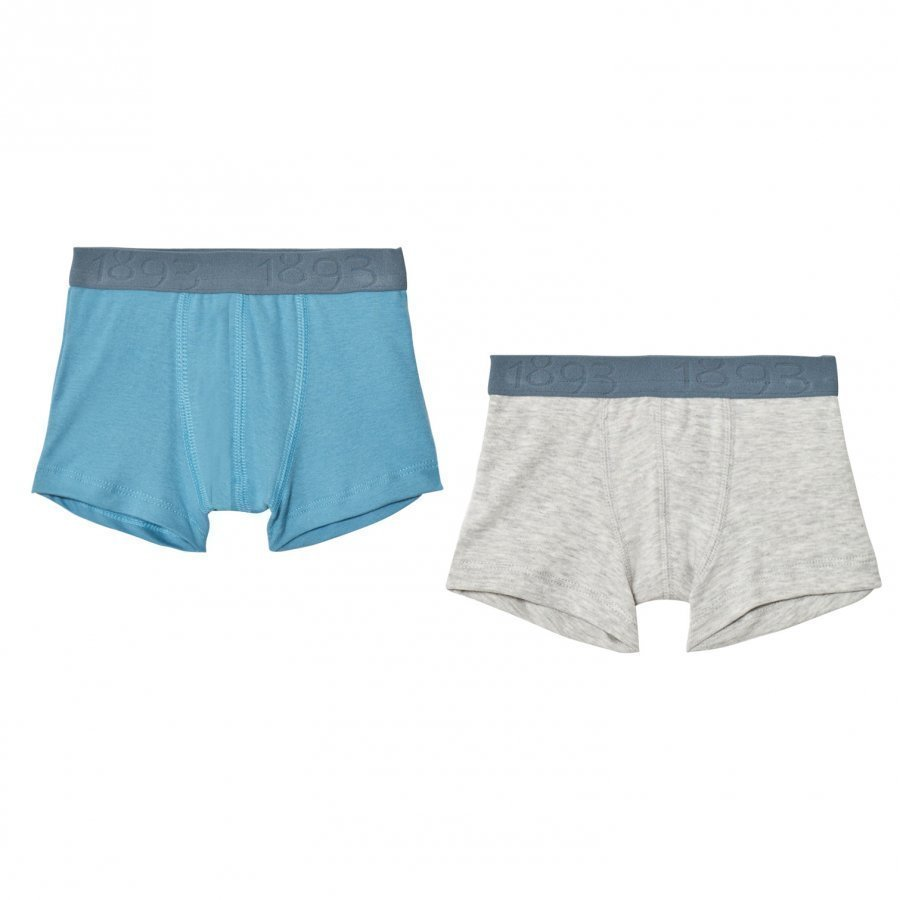 Petit Bateau Blue/Grey Boxers 2 Pack Bokserit