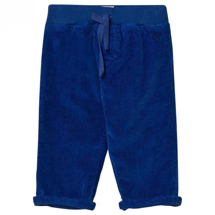 Petit Bateau Corduroy Trousers Blue Housut