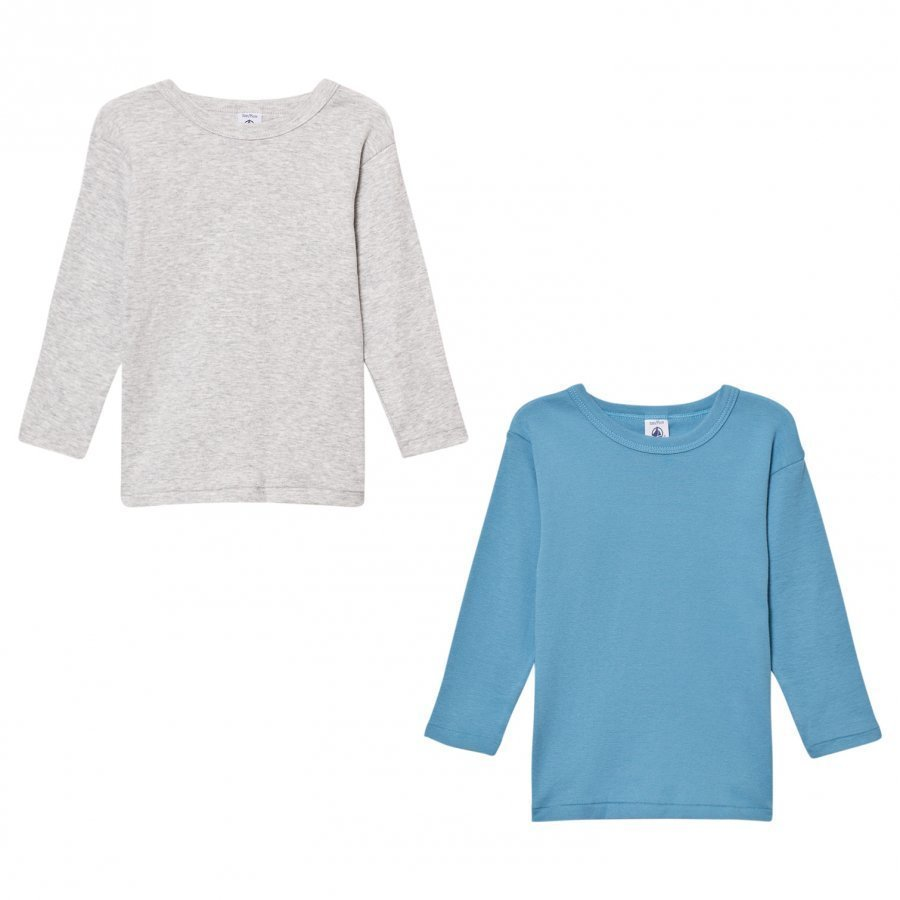 Petit Bateau Cotton Long Sleeve T-Shirts 2 Pack T-Paita