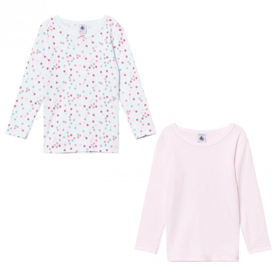 Petit Bateau Cotton Long Sleeve T-Shirts 2 Pack T-Paita