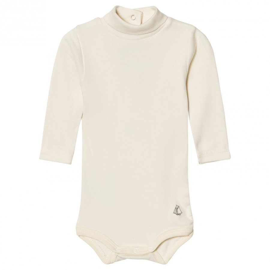 Petit Bateau Cream Turtleneck Baby Body