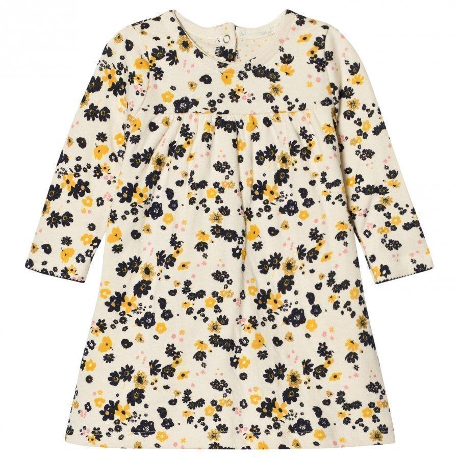 Petit Bateau Creme Floral Dress Mekko