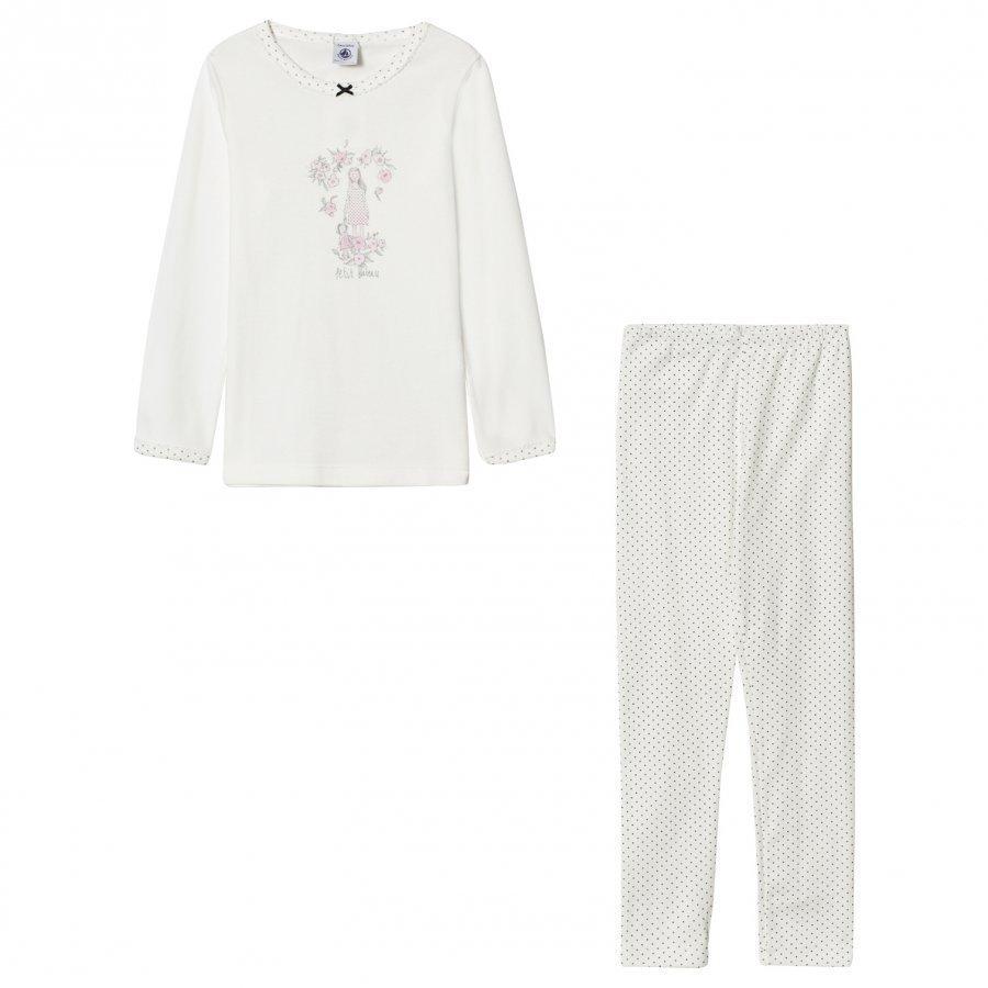 Petit Bateau Creme Spot Pyjamas Yöpuku