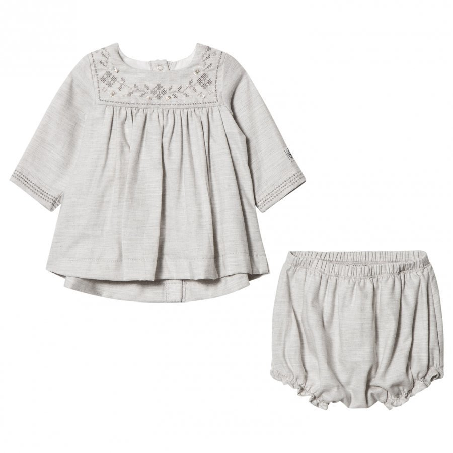 Petit Bateau Dress Bloomers Grey Mekko