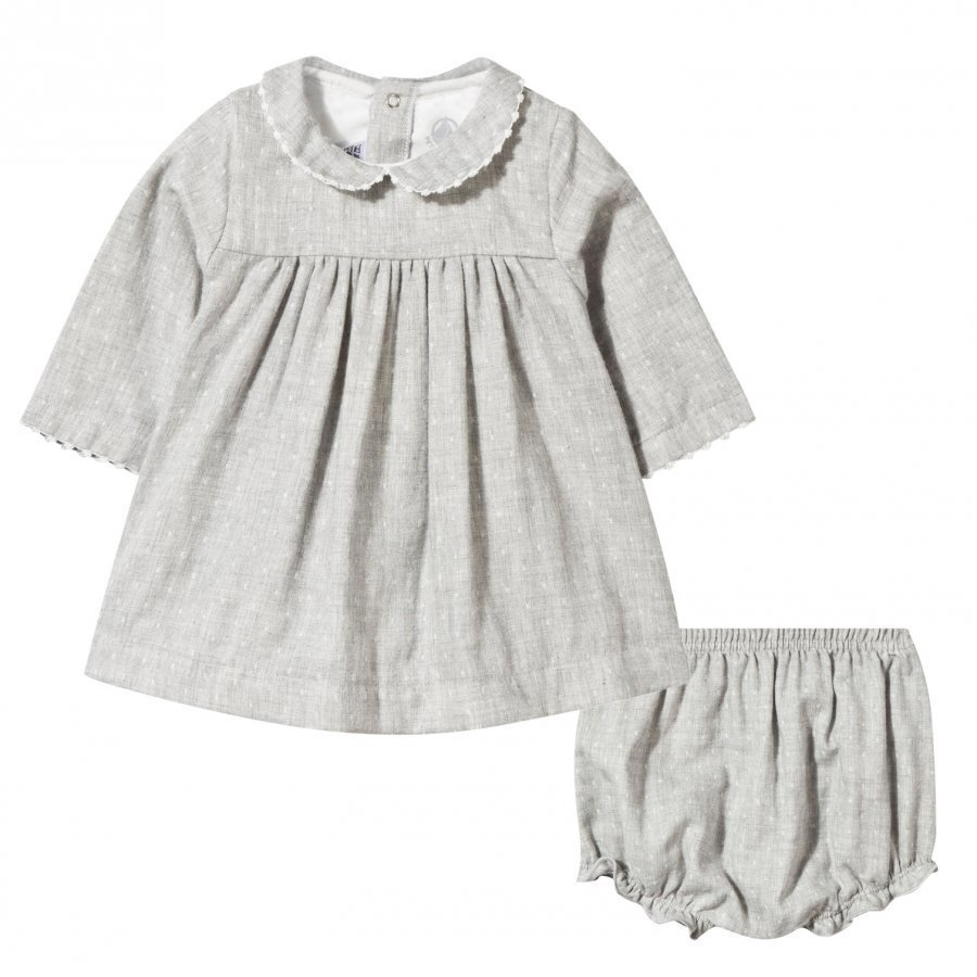 Petit Bateau Dress + Bloomers Gris Chine Mekko