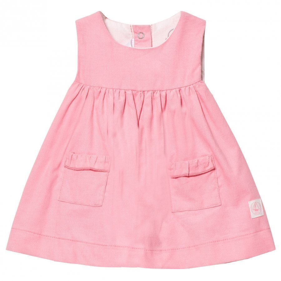 Petit Bateau Fine Corduroy Sleeveless Dress Soft Pink Mekko