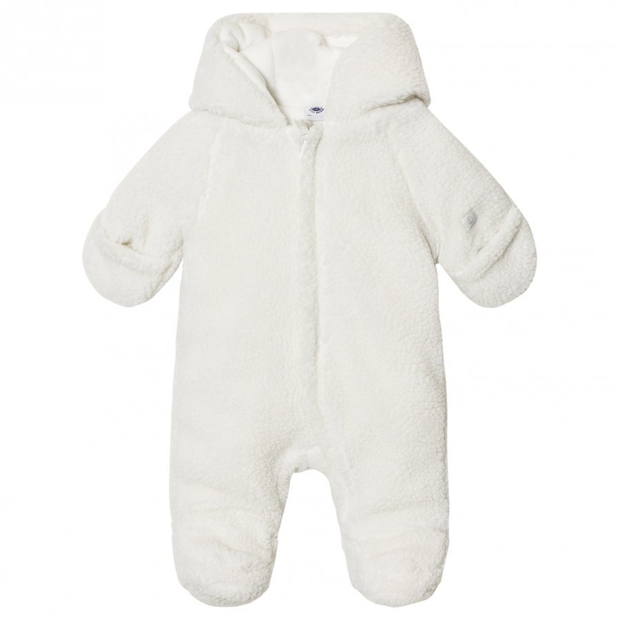 Petit Bateau Fleece Coverall Creme Fleece Haalarit