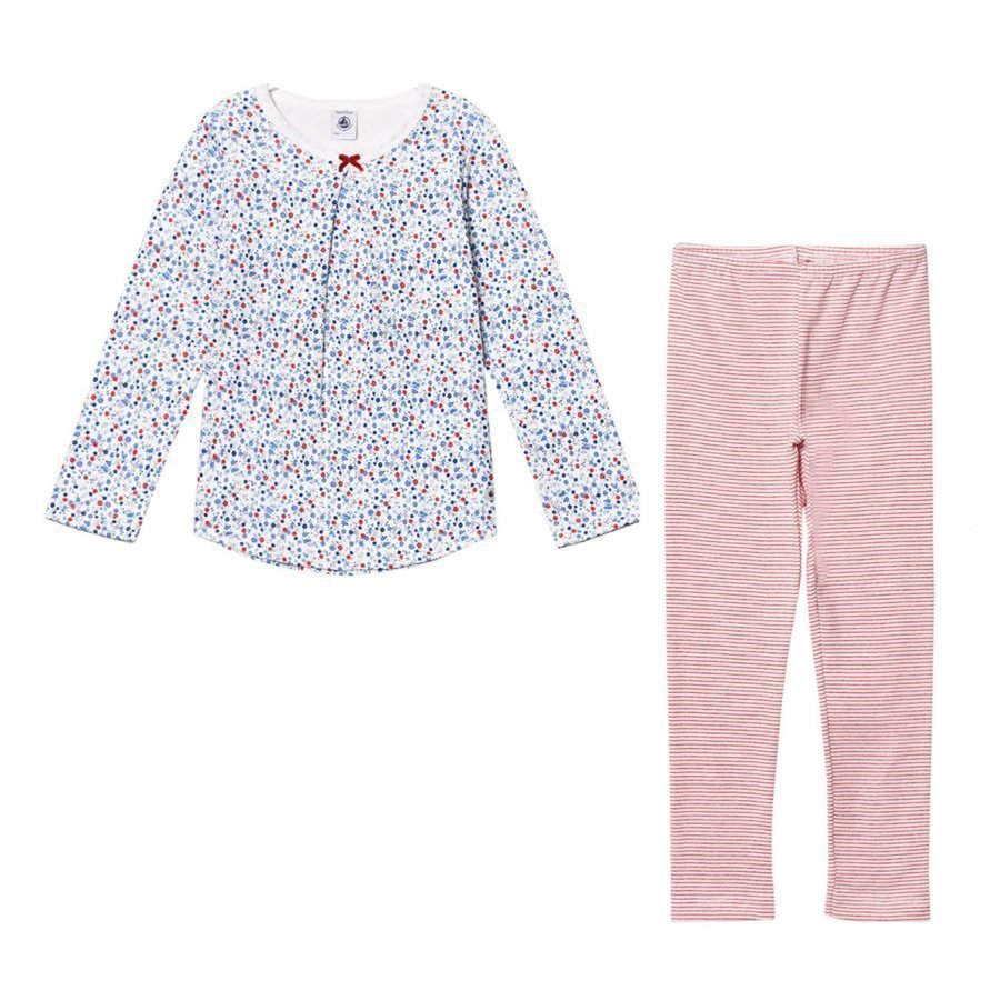 Petit Bateau Flower Print And Striped Pyjamas Yöpuku