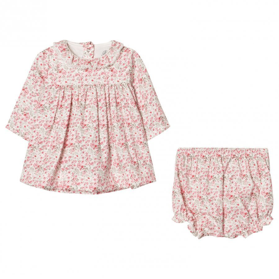 Petit Bateau Flower Twill Dress Mekko
