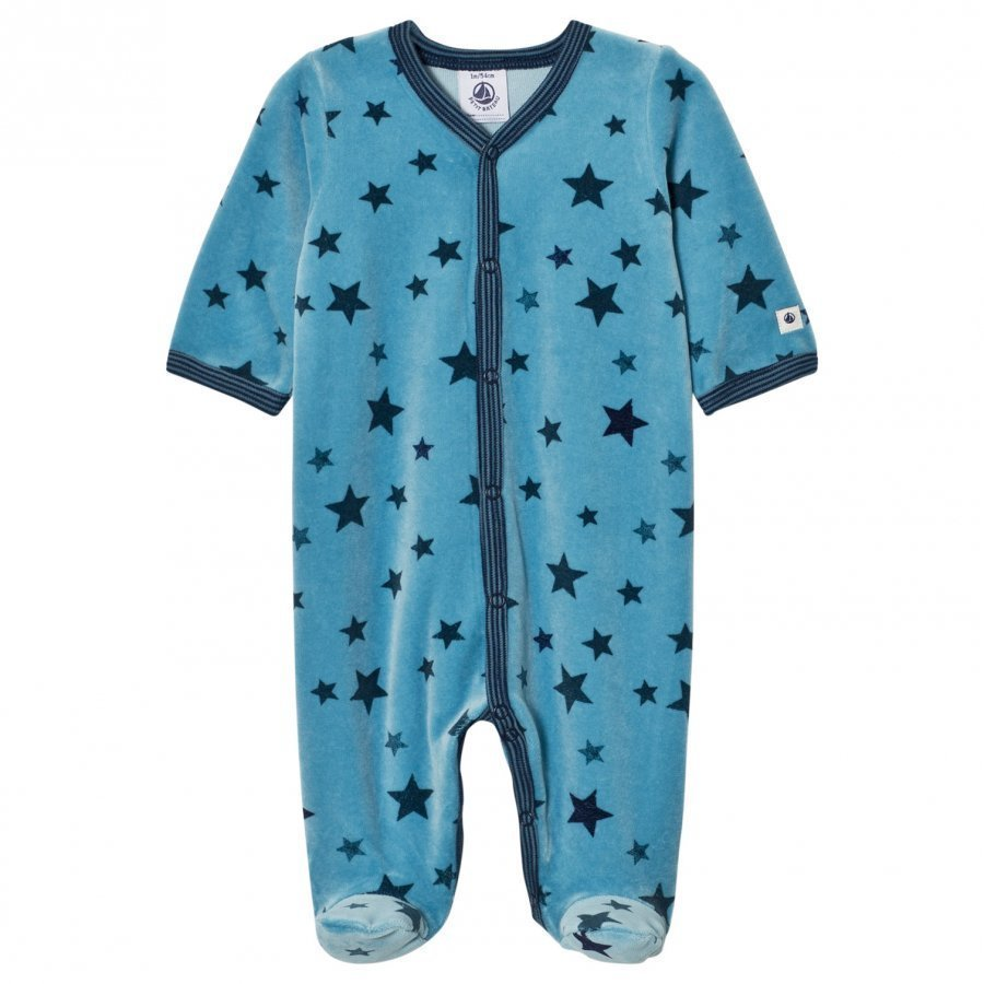 Petit Bateau Footed Baby Body Barque Body