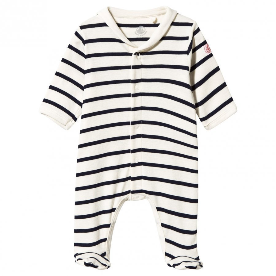 Petit Bateau Footed Baby Body Coquille/Abysse Body