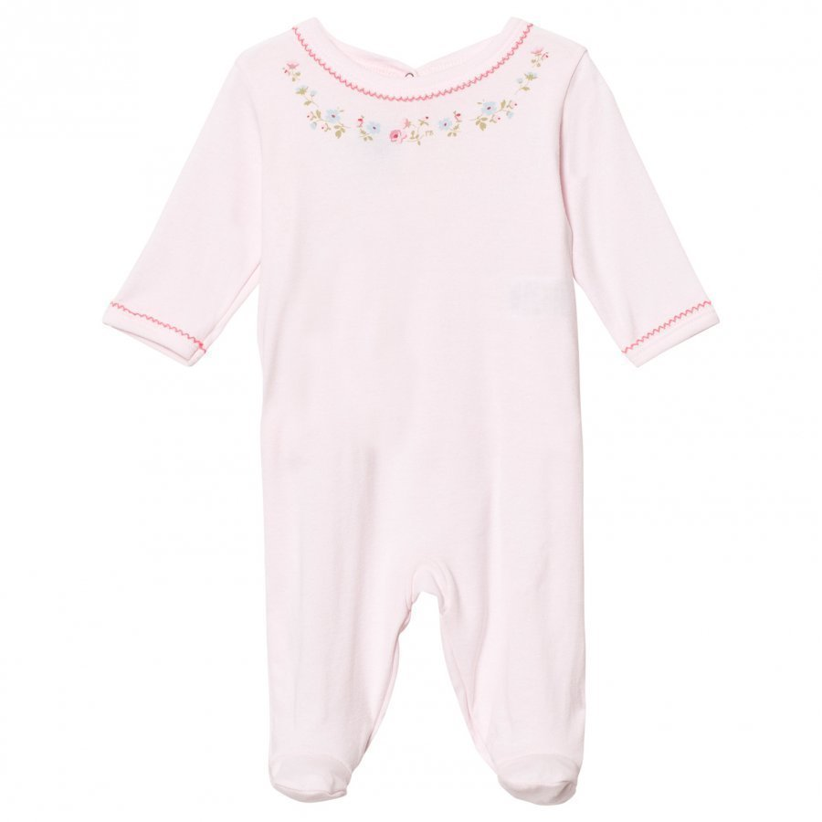 Petit Bateau Footed Baby Body Pink Body
