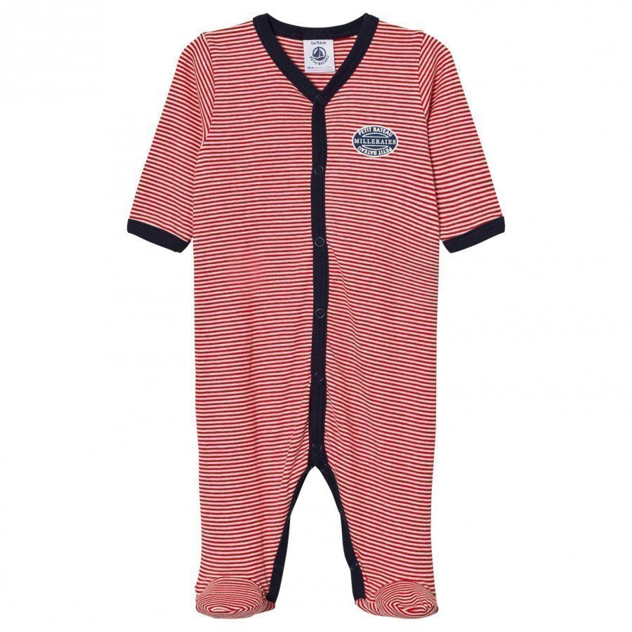 Petit Bateau Footed Baby Body Red Body