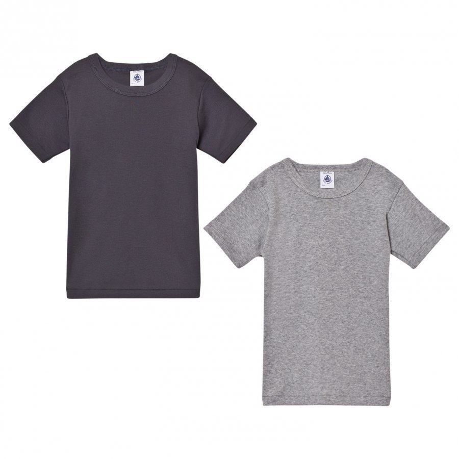 Petit Bateau Grey Cotton T-Shirts 2 Pack T-Paita