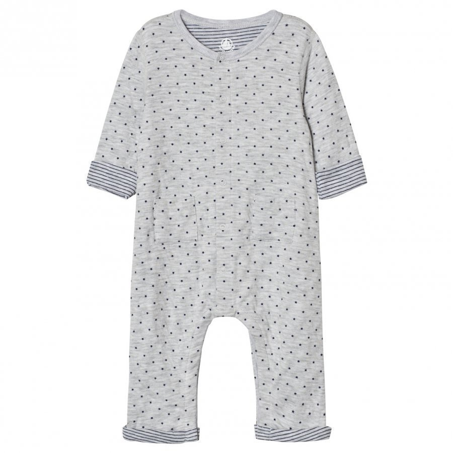 Petit Bateau Grey Stars One-Piece Body