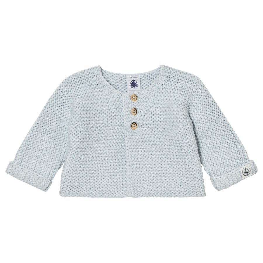 Petit Bateau Knit Cardigan Light Blue Neuletakki
