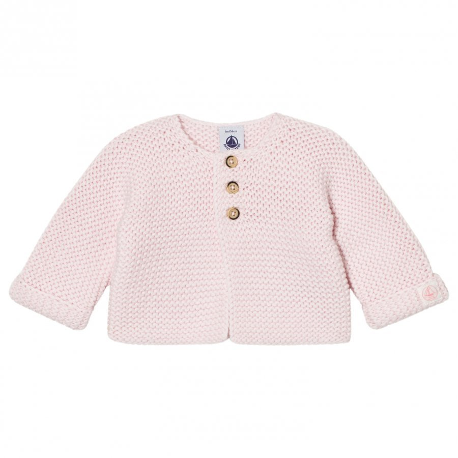 Petit Bateau Knit Cardigan Vienne Pink Neuletakki