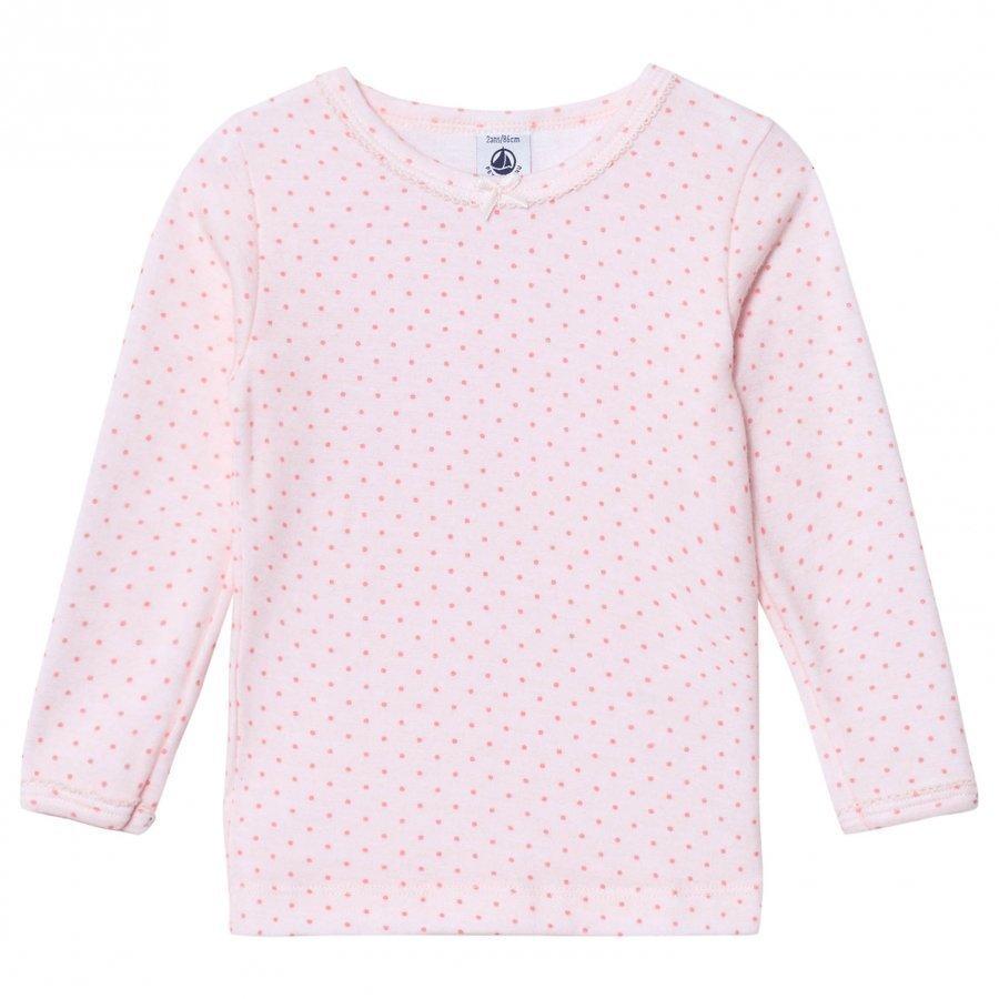 Petit Bateau Long Sleeve T-Shirt Pink Pitkähihainen T-Paita