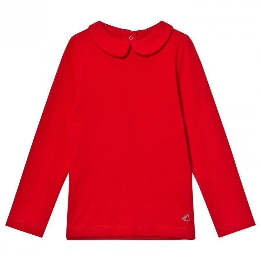 Petit Bateau Long Sleeve Tee Red T-Paita