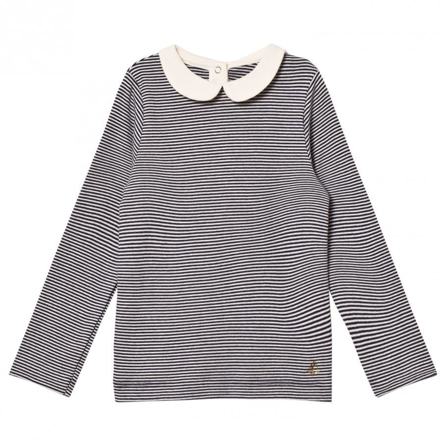 Petit Bateau Long Sleeved Ribbed Tee T-Paita