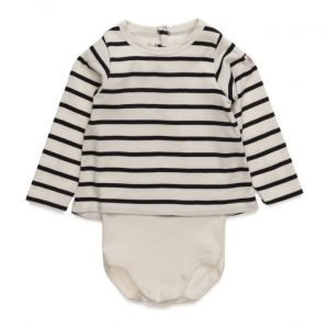 Petit Bateau Mallette Long Sleeve Body Tee Shirt