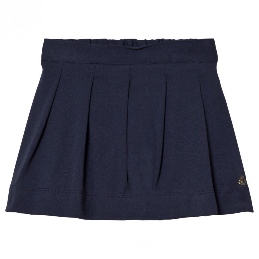 Petit Bateau Marine Blue Pleated Skirt Kellohame