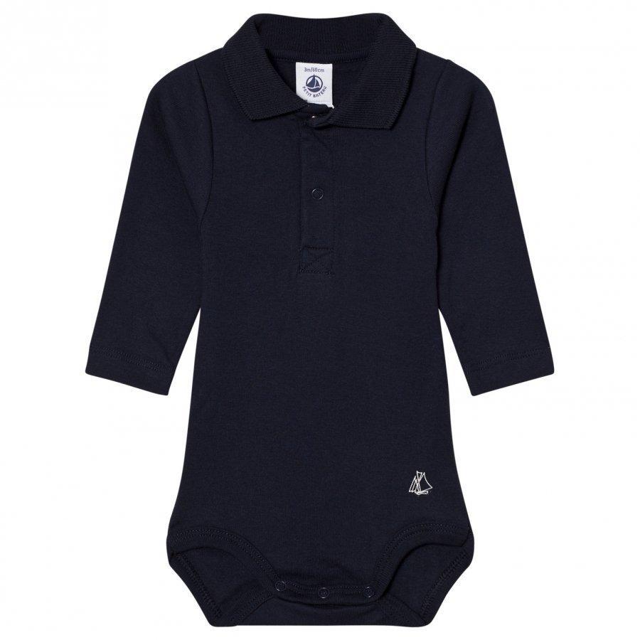 Petit Bateau Marine Polo Baby Body