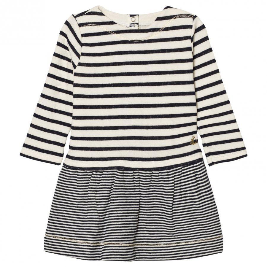 Petit Bateau Marine Stripe Dress Mekko