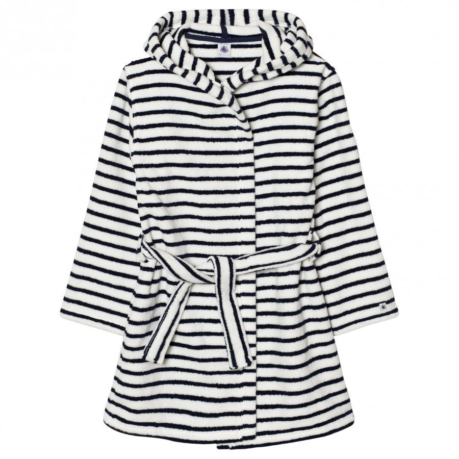 Petit Bateau Marine Striped Bathrobe Kylpytakki