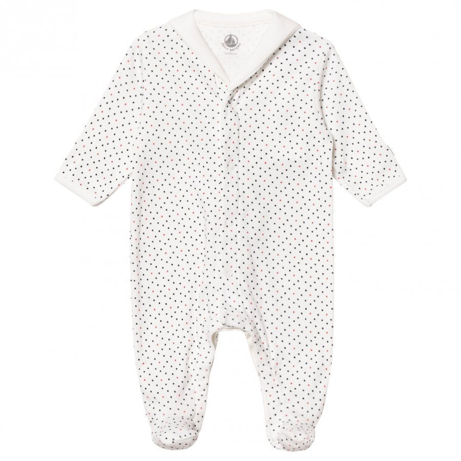 Petit Bateau Miniature Stars Footed Baby Body Cream Body