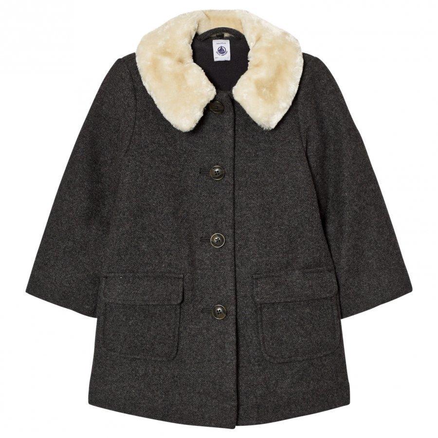 Petit Bateau Padded Coat Grey Toppatakki