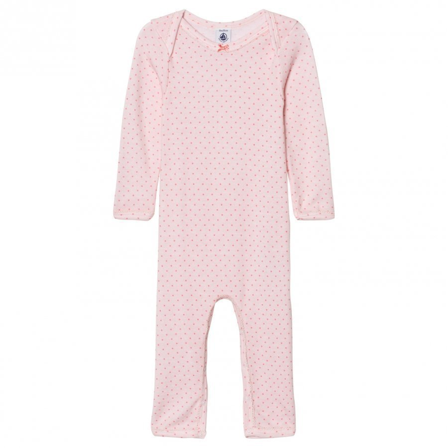 Petit Bateau Pink Dot One-Piece Body