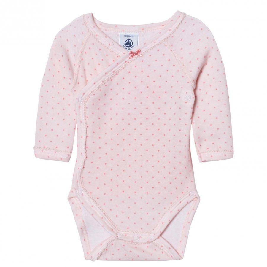 Petit Bateau Pink Dot Wrap Baby Body