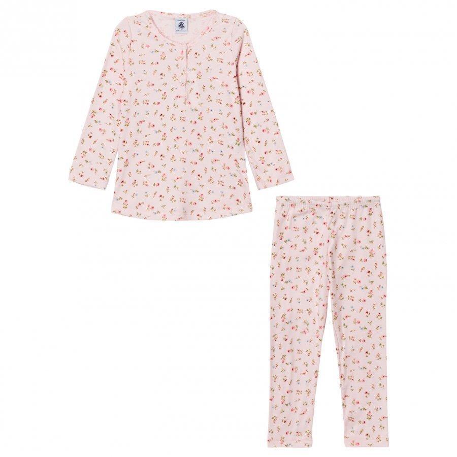 Petit Bateau Pink Flower Print Pyjamas Yöpuku