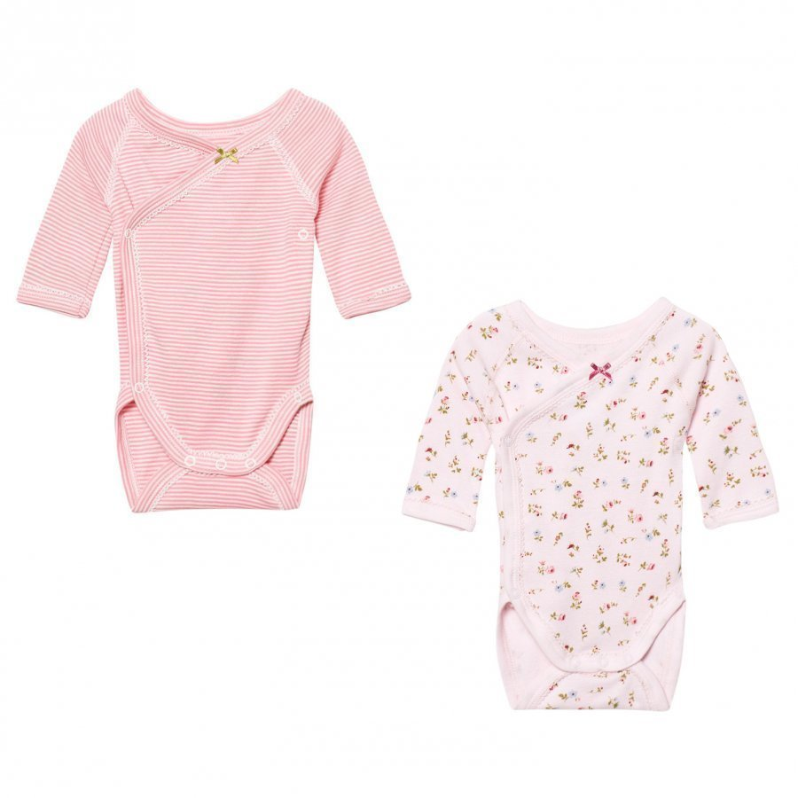 Petit Bateau Pink Pattern Wrap Baby Bodies 2 Pack Body