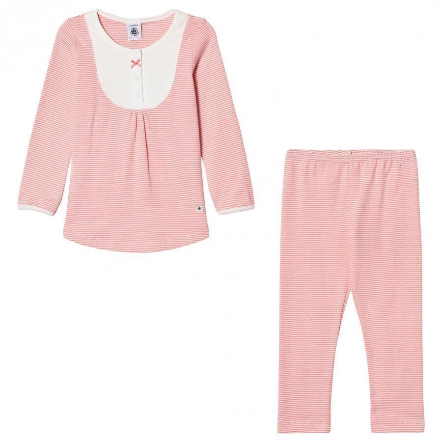 Petit Bateau Pink Stripe Pyjamas Yöpuku
