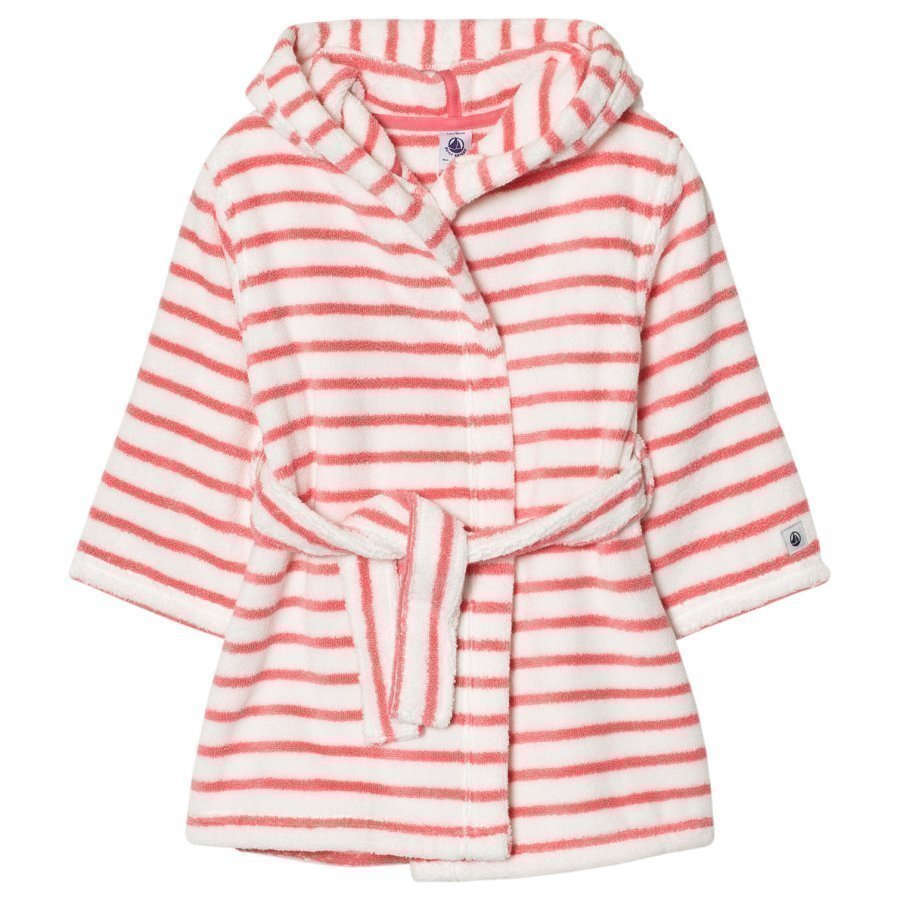 Petit Bateau Pink Striped Bathrobe Kylpytakki