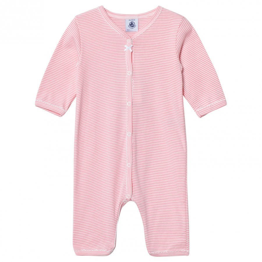 Petit Bateau Pink Striped One-Piece Body