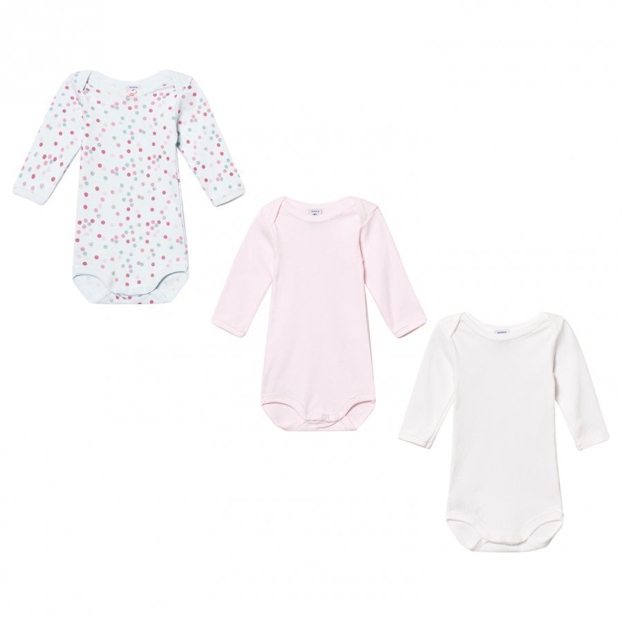 Petit Bateau Pink/Blue Baby Bodies 3 Pack Body
