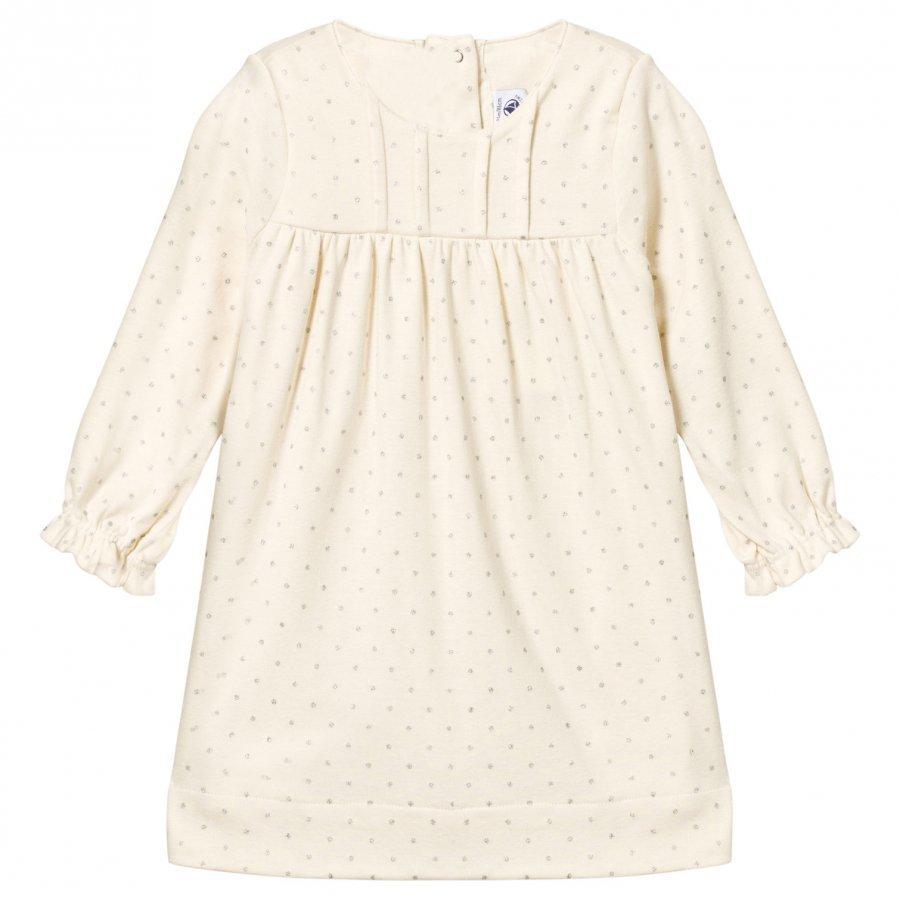 Petit Bateau Polka-Dots Dress Coquille White Mekko