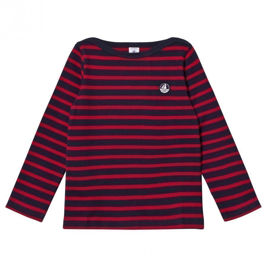 Petit Bateau Red Marine Striped Sweater Neuletakki