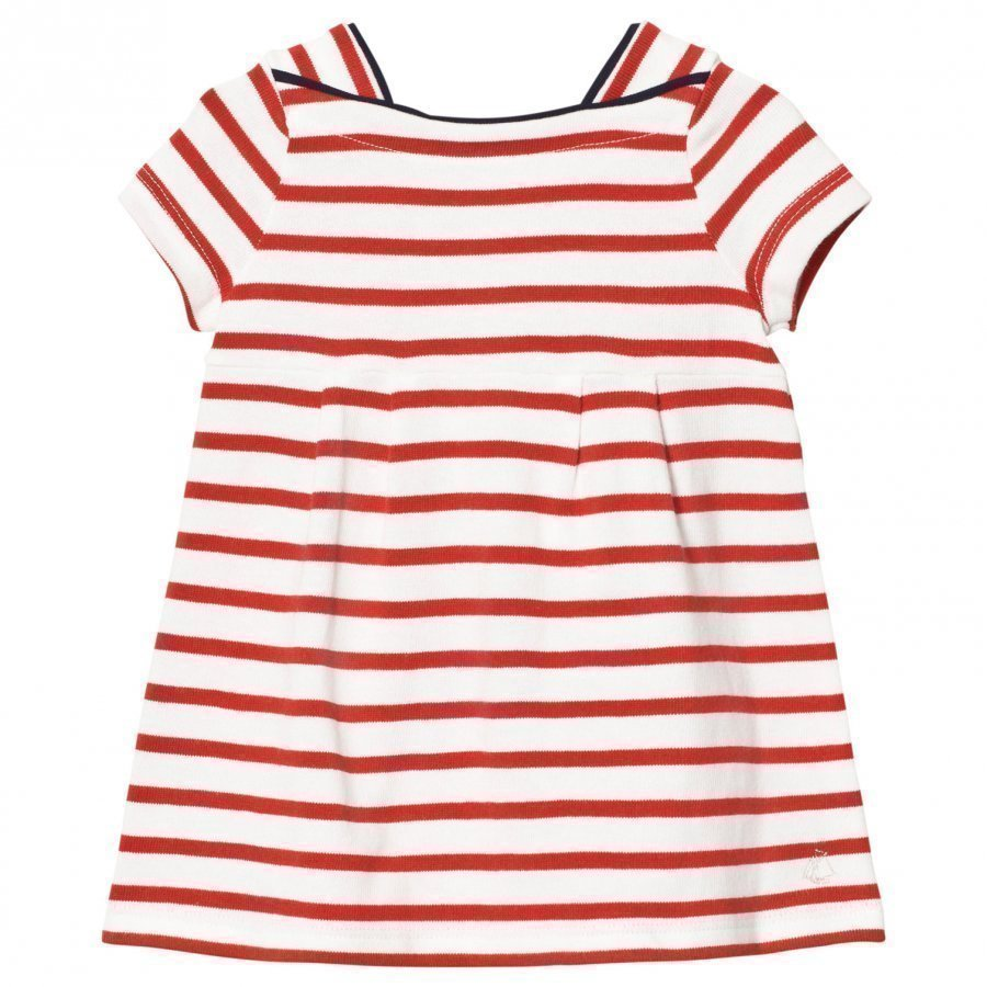 Petit Bateau Red Stripe Jersey Dress Mekko