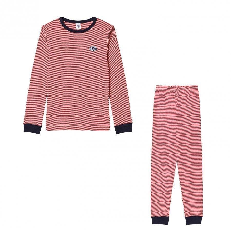 Petit Bateau Red Stripe Pyjamas Yöpuku